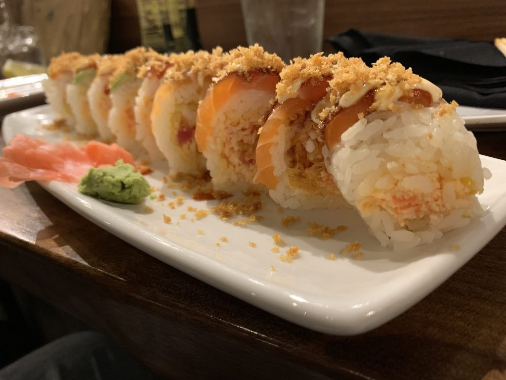 Hawaiian Sushi Roll - Fujiyama Sushi Bar - For Foodies By Foodies Review