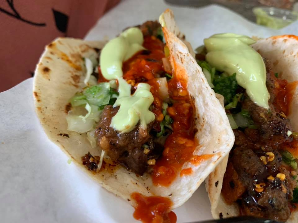 Taco Al Pastor on Flour Tortilla - Taqueria Don Omar - Picture Taken by For Foodies By Foodies