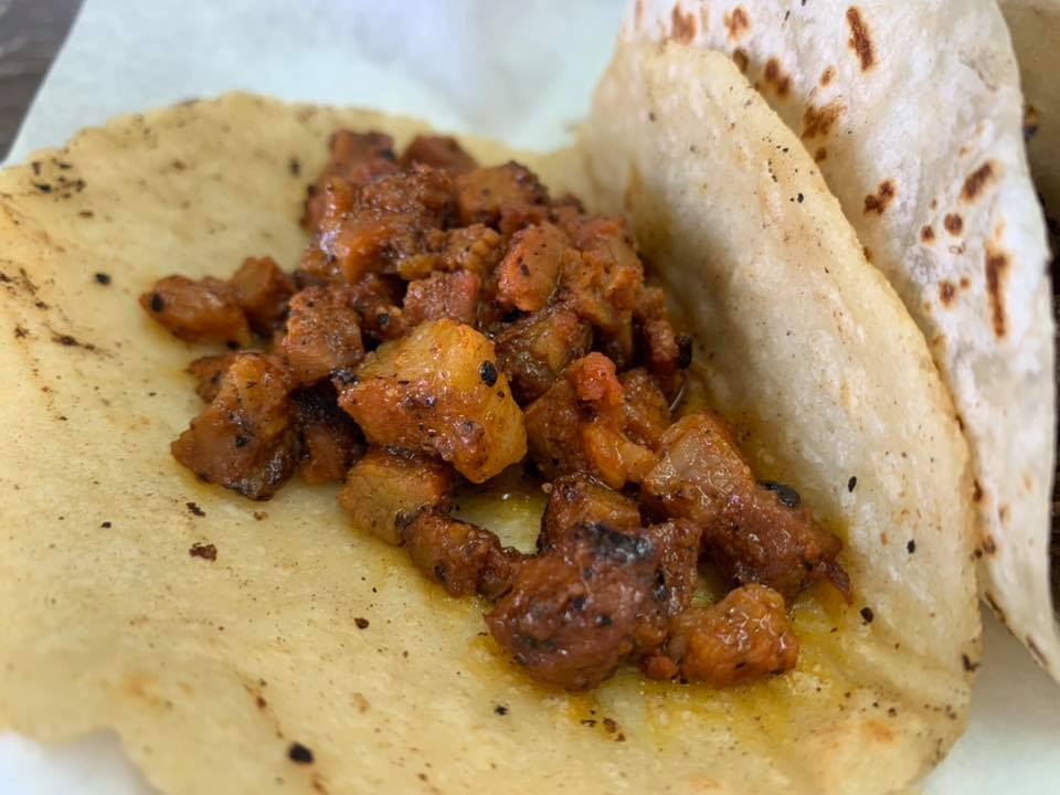 Tacos Al Pastor on Corn Tortilla1 - Taqueria Don Omar - Picture Taken by For Foodies By Foodies